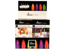 COLOUR FLAME T/LIGHTS 6PK DISPLAY (12=1)