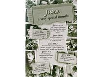 CHRONICLE CARD JUNE MONTH