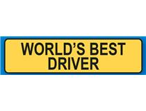 Keyrings LIC PLATES WORLDS BEST DRIVER