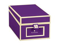 Business Card Box Plum