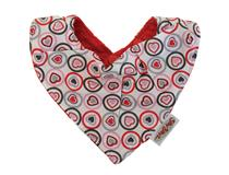 DESIGN BANDANA HEART RED
