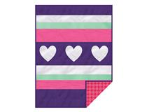 FLEECE DESIGN BLANKET - HEARTS GIRL