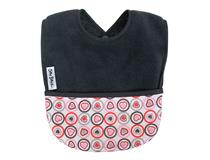FLEECE POCKET BIB GREY HEART