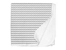 JERSEY SWADDLE BLANKET GREY CHEVRON