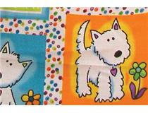 TABLE CLOTH 120CM DOG ROUND