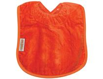 TOWEL PLAIN LARGE BIB ORANGE
