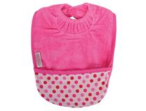 TOWEL POCKET BIB CERISE/DOTS