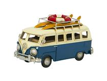 MODEL BLUE CAMPER VAN WITH SURFBOARDS