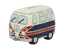 UK FLAG CAMPER VAN MONEY BOX