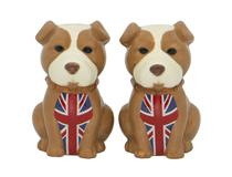 BULLDOG SALT AND PEPPER SET