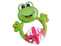 Frog Fun Plastic Teething Rattle