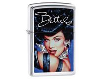 29473 BETTIE PAGE GLAMOUR-BRUSHED CHROME