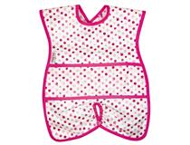 WIPE CLEAN HIGHCHAIR HUGGER BIB DOTS